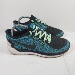 Womens Sz 8.5 Nike 5.0 Print Blue Lagoon Green Glo